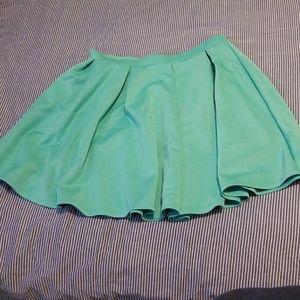 Seafoam green skirt